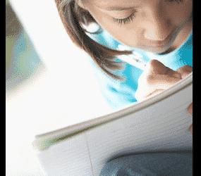 PreTeen Girl Journal Writing